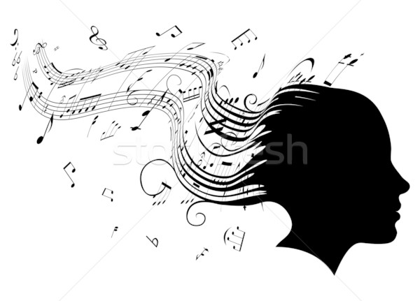 Woman head profile hair music concept  Stock photo © Krisdog
