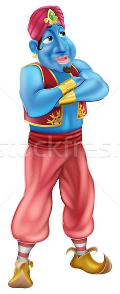 Friendly Jinn or genie standing Stock photo © Krisdog