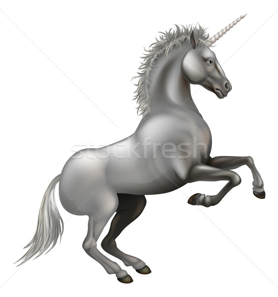 Powerful Unicorn illustration Stock photo © Krisdog