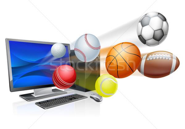 Sports computer app concept Stock photo © Krisdog
