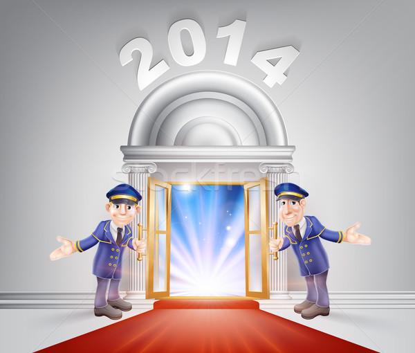 New Year 2014 Red Carpet Stock photo © Krisdog