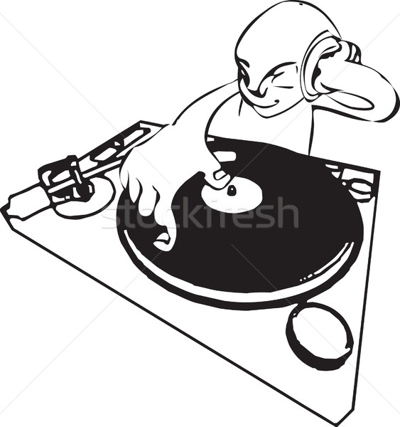 funky dj illustration Stock photo © Krisdog