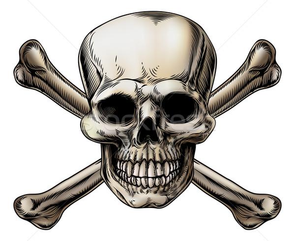 Skull and Crossbones Icon Stock photo © Krisdog