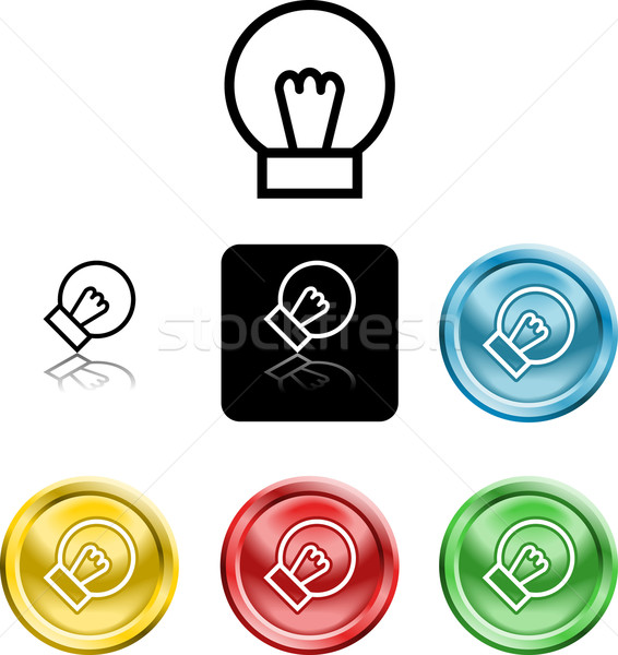 lightbulb icon symbol Stock photo © Krisdog