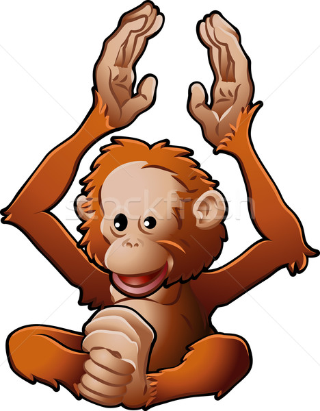 Cute Orang-utan Vector Illustration Stock photo © Krisdog