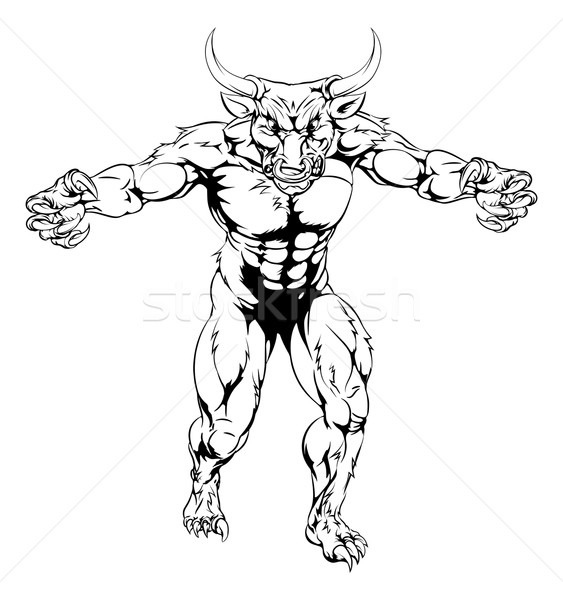 Minotaur bull scary sports mascot Stock photo © Krisdog