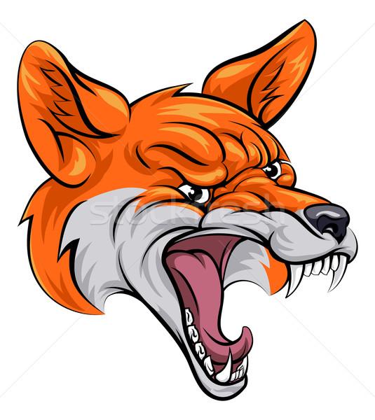 Fox sports mascot Stock photo © Krisdog