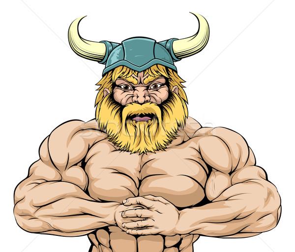 Viking Warrior mascot Stock photo © Krisdog