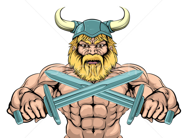 Tough Viking Sword Warrior Stock photo © Krisdog