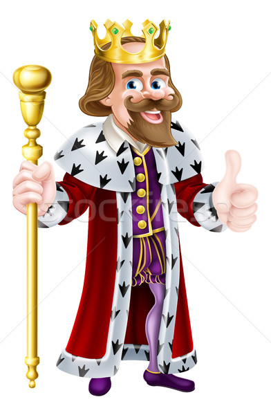 Thumbs Up King Cartoon Stock photo © Krisdog