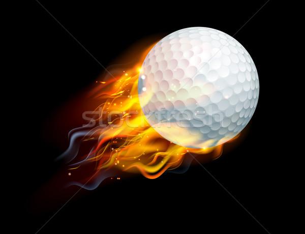 Golf Ball on Fire Stock photo © Krisdog