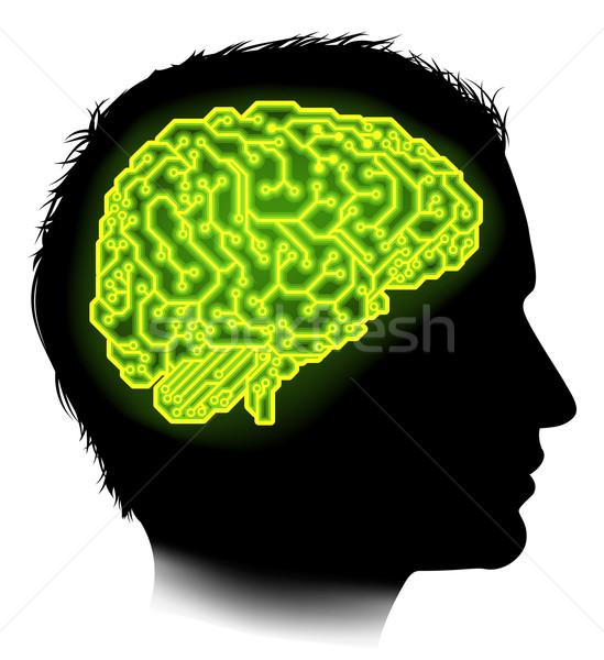 Electrical Circuit Brain Man Concept Stock photo © Krisdog