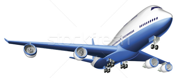 Illustration of a large passenger plane Stock photo © Krisdog