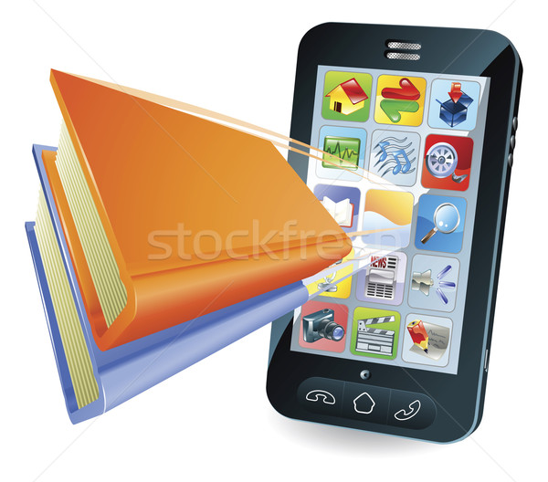 Smartphone book concept Stock photo © Krisdog