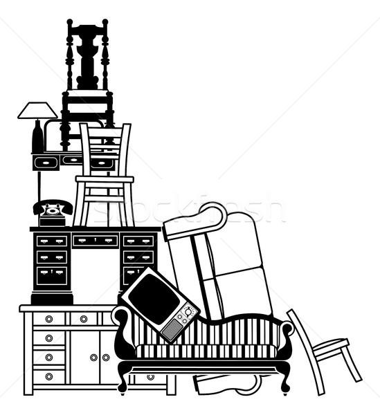 Stack of furniture Stock photo © Krisdog