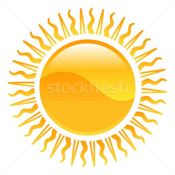 Weather icon clipart sun illustration Stock photo © Krisdog