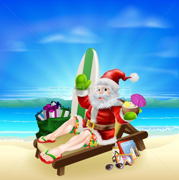 Foto stock: Surf · verano · Navidad · ilustración · relajante