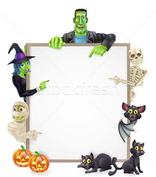 Halloween Sign Background Stock photo © Krisdog