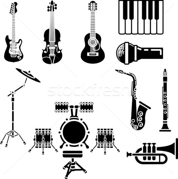 Musical Instrument Icon Set Stock photo © Krisdog