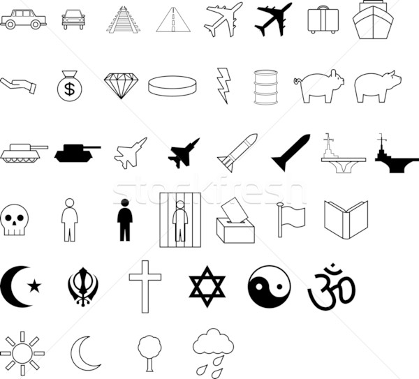 Demographic symbol icons Stock photo © Krisdog