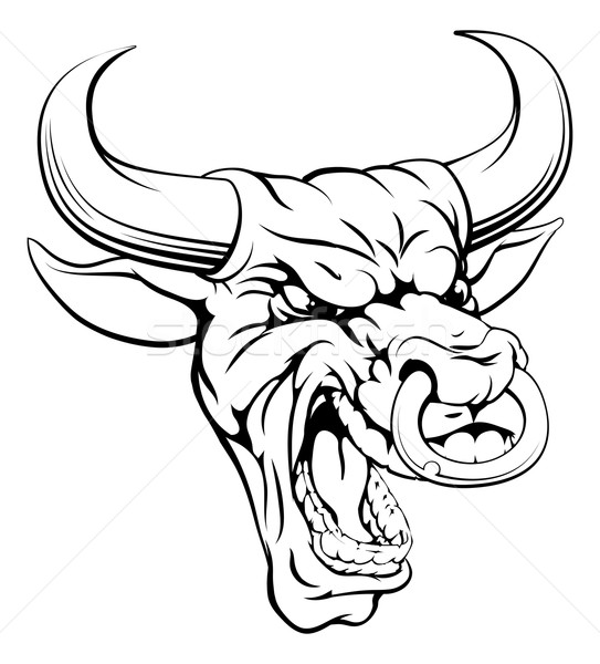 Bull sports mascot head Stock photo © Krisdog