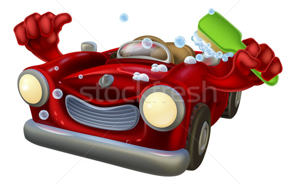 Carwash cartoon Stock photo © Krisdog