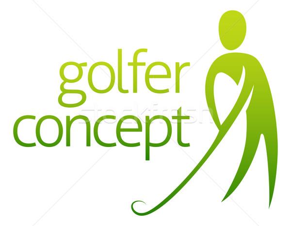 гольфист аннотация мяч для гольфа человека дизайна фон Сток-фото © Krisdog