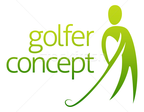 Golfer concept abstract Stock photo © Krisdog