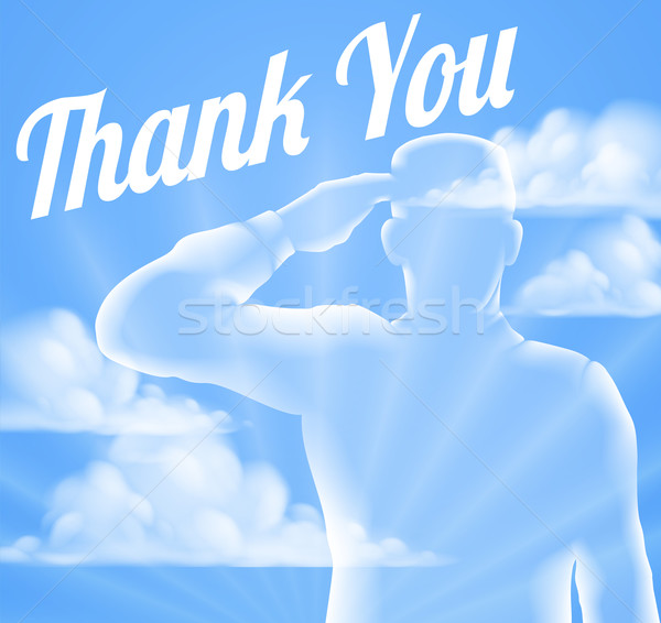 Memorial Day or Veterans Day Thank You Design Stock photo © Krisdog