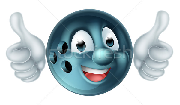 Karikatür bowling topu karakter kişi spor maskot Stok fotoğraf © Krisdog