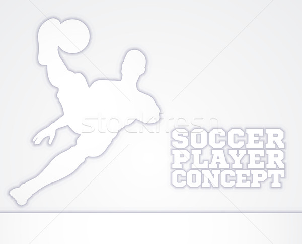 Soccer Football Player Concept Silhouette Stock photo © Krisdog