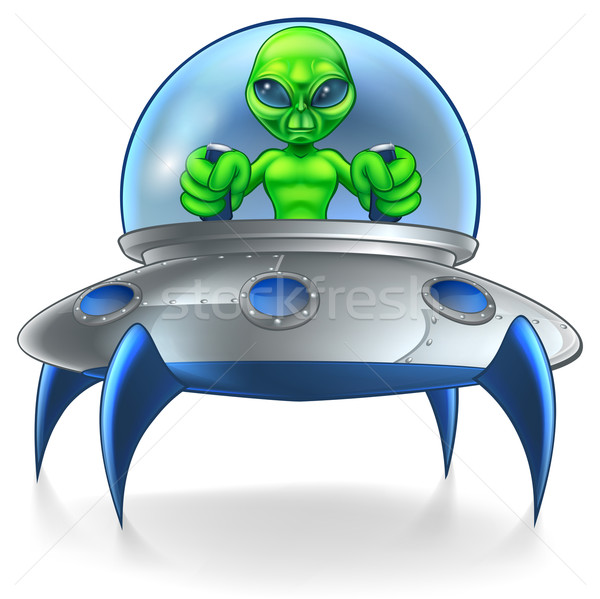 Alien UFO Flying Saucer Stock photo © Krisdog