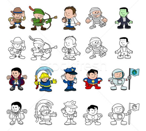 Cartoon characters set Stock photo © Krisdog