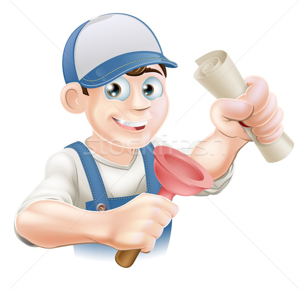 Plumber with qualification Stock photo © Krisdog