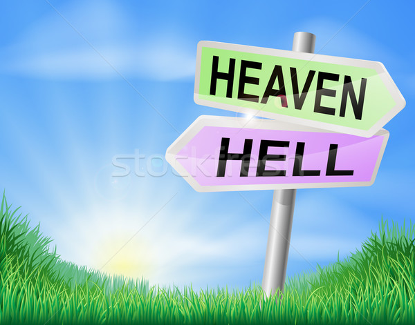 Heaven or hell sign concept Stock photo © Krisdog