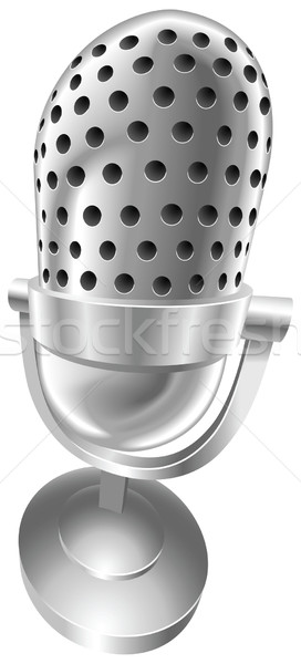 Retro steel radio microphone Stock photo © Krisdog