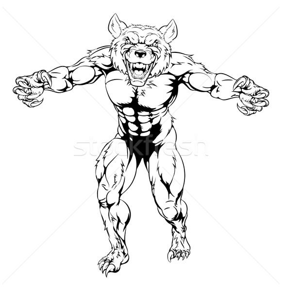 оборотень характер жесткий волка животного талисман Сток-фото © Krisdog