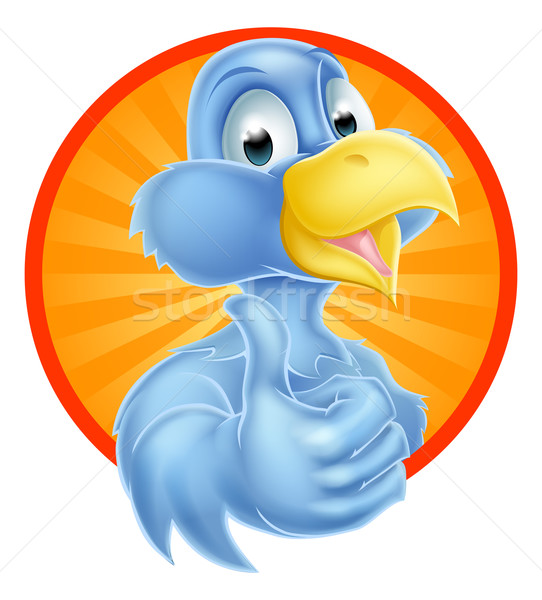 Cartoon Thumbs Up Bluebird Stock photo © Krisdog