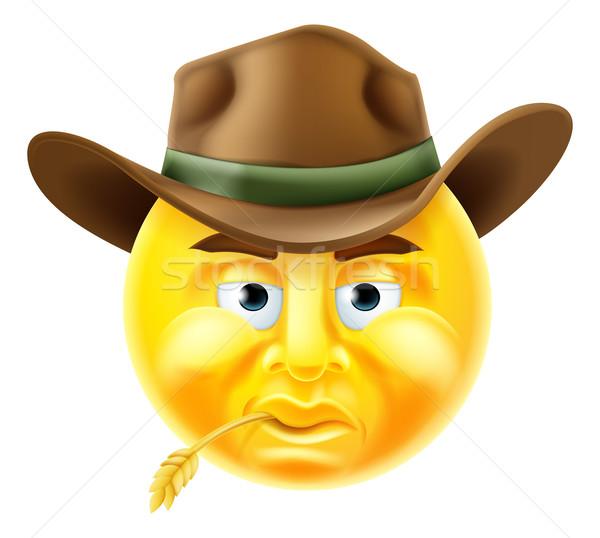 Emoticon Cowboy Stock photo © Krisdog