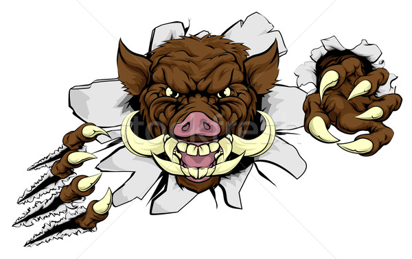Stock photo: Boar Mascot