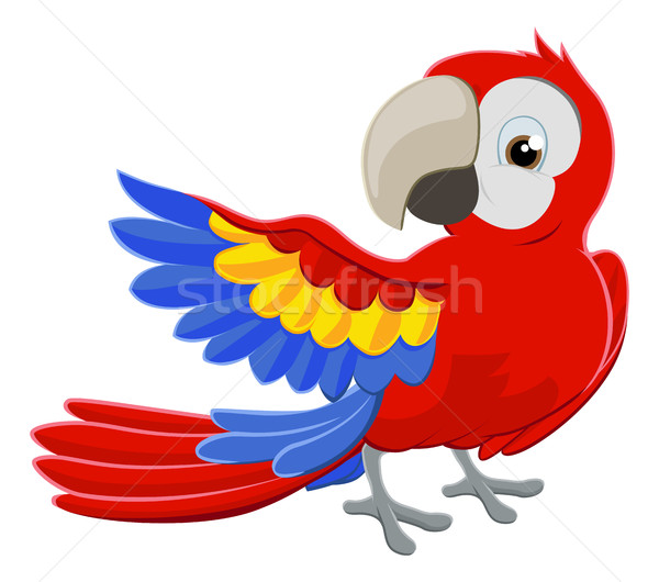 Cartoon Parrot Character Stock photo © Krisdog
