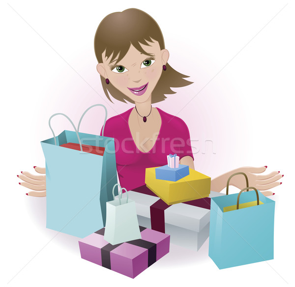 Happy Shopper Stock photo © Krisdog