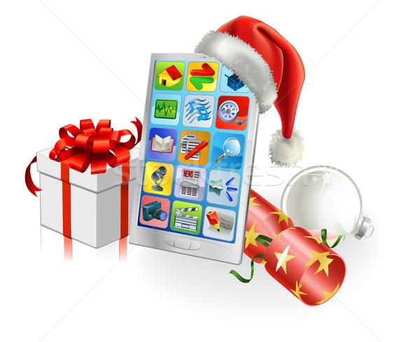 Christmas Mobile Phone Stock photo © Krisdog