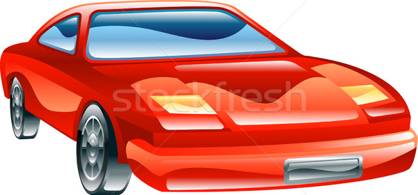 Glossy stylised sports car icon Stock photo © Krisdog