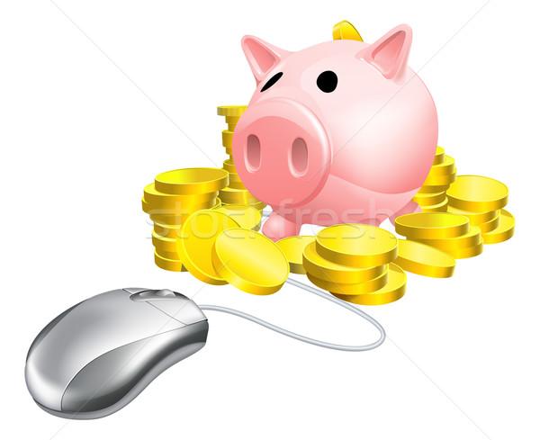 Mouse Piggy bank concept Stock photo © Krisdog