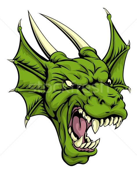 Dragon head illustration Stock photo © Krisdog