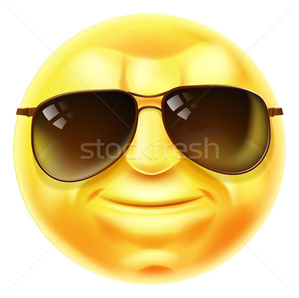 Sunglasses Cool Emoji Emoticon Stock photo © Krisdog