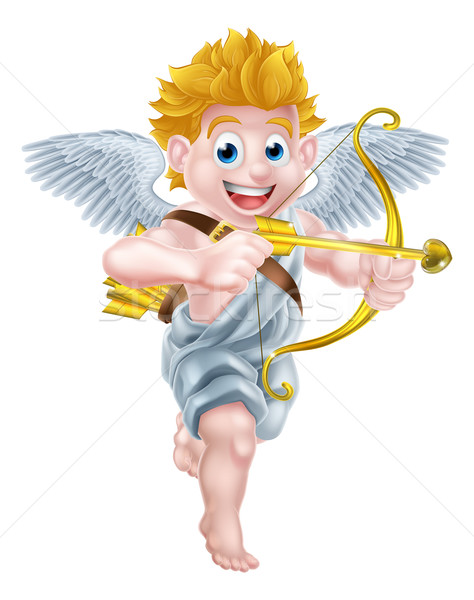 Cupid Cartoon Angel Stock photo © Krisdog