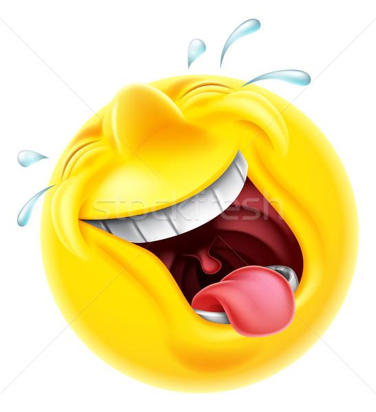 Laughing Emoji Emoticon Stock photo © Krisdog