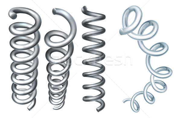 Steel Metal Spring Coil Design Elements Stock photo © Krisdog